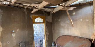 Müharibədən dağılmış ev