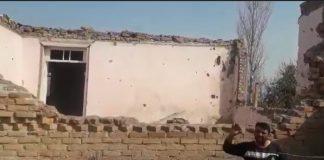 Müharibədə dağılmış ev